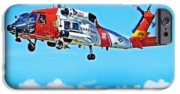 Law Enforcement iPhone Cases - Sikorsky MH-60 Jayhawk iPhone Case by Tom Gari Gallery-Three-Photography