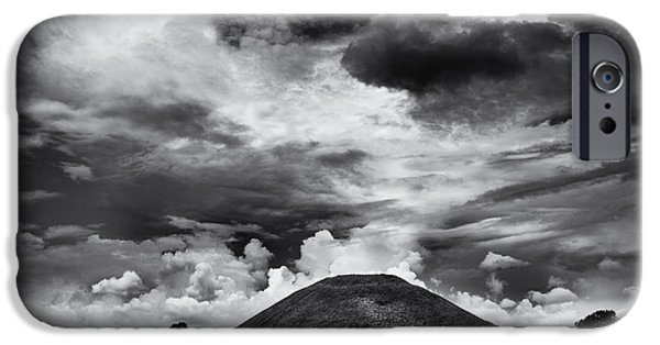 Mounds iPhone Cases - Silbury Hill  iPhone Case by Tim Gainey