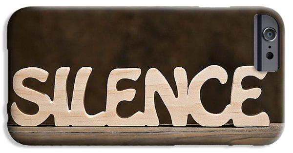 Self-improvement iPhone Cases - Silence iPhone Case by Donald  Erickson