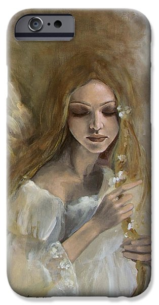Heavens Paintings iPhone Cases - Silence iPhone Case by Dorina  Costras