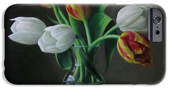 Flower Still Life iPhone Cases - Silence iPhone Case by Pieter Wagemans