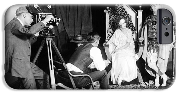 Technology iPhone Cases - Silent Film Production, 1922 iPhone Case by Library Of Congress