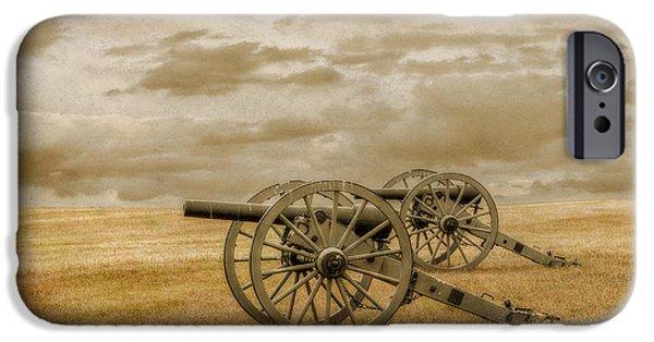 Battle Of Gettysburg Digital iPhone Cases - Silent Guns at Gettysburg iPhone Case by Randy Steele