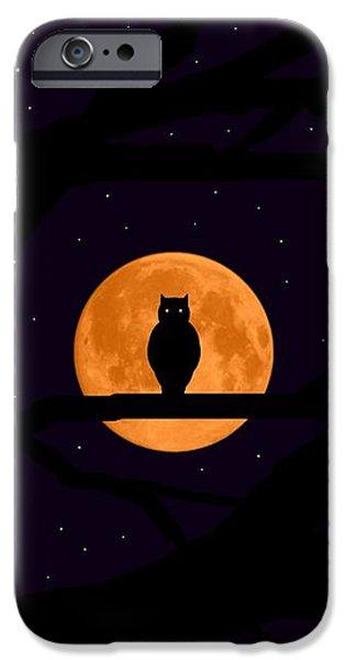 Silent Harvest Moonlight Predator iPhone Case by L Brown