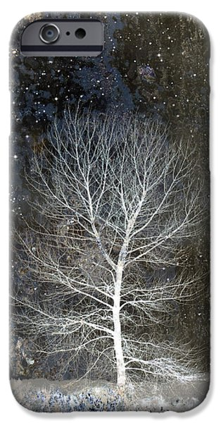 Card Digital Art iPhone Cases - Silent Night iPhone Case by Carol Leigh