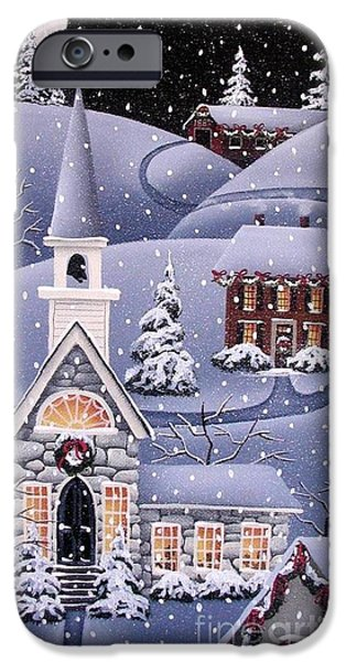Covered Bridge iPhone Cases - Silent Night iPhone Case by Catherine Holman