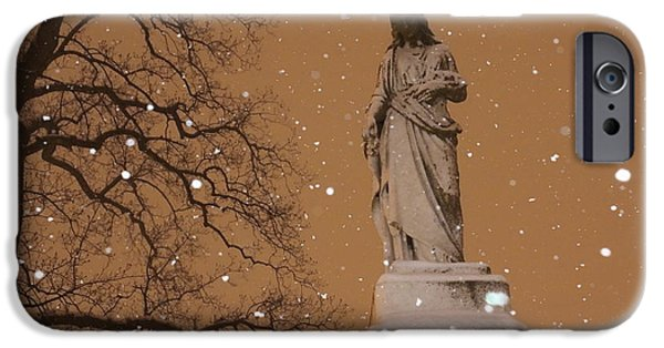 Night Angel iPhone Cases - Silent Night iPhone Case by David M Jones
