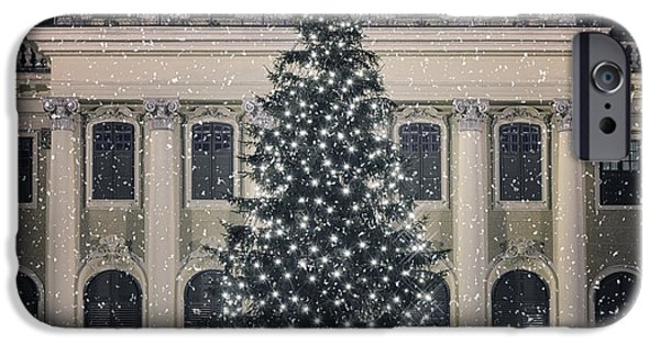 Christmas Greeting iPhone Cases - Silent Night iPhone Case by Joan Carroll