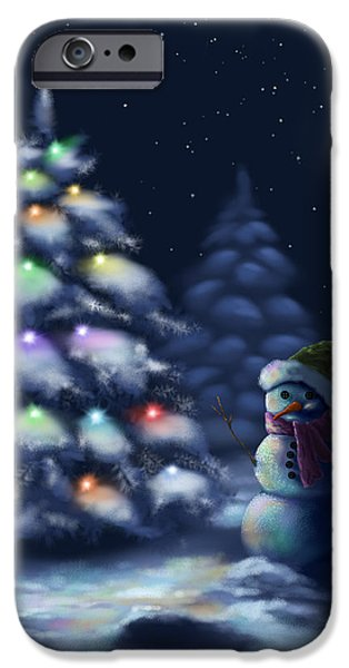Snowy Night iPhone Cases - Silent night iPhone Case by Veronica Minozzi