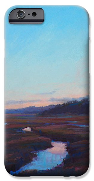 Cape Cod Pastels iPhone Cases - Silent Nite iPhone Case by Ed Chesnovitch