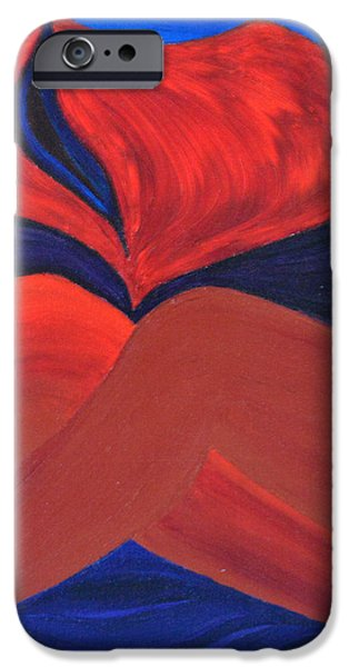 Silent She Emerges iPhone Case by Daina White