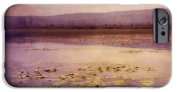 Surreal Landscape iPhone Cases - Silent water  iPhone Case by Priska Wettstein