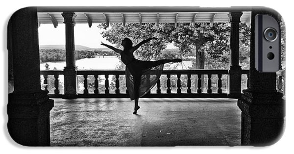 Ballet Dancers iPhone Cases - Silhouette iPhone Case by Audrey Wilkie