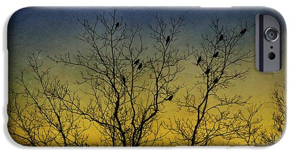 Rollo Digital Art iPhone Cases - Silhouette Birds Sequel iPhone Case by Christina Rollo
