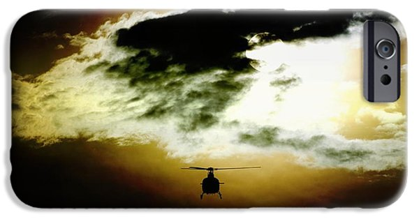 Police Art iPhone Cases - Silhouette Cloud iPhone Case by Paul Job