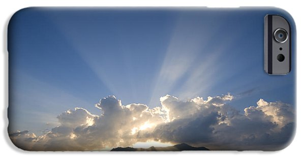 Radiating Light iPhone Cases - Silhouette Island iPhone Case by Alexey Stiop