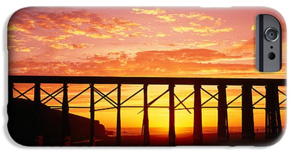 Connection iPhone Cases - Silhouette Of A Railway Bridge, Pudding iPhone Case by Panoramic Images