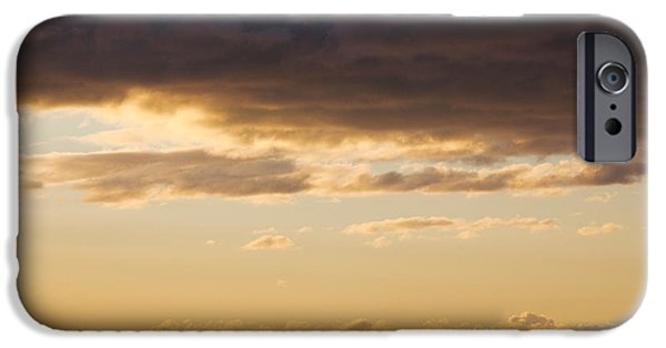 Languedoc iPhone Cases - Silhouette Of A Ship In The Sea iPhone Case by Panoramic Images