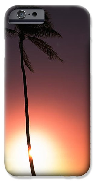 Jogging iPhone Cases - Silhouette Of A Woman Running iPhone Case by Panoramic Images
