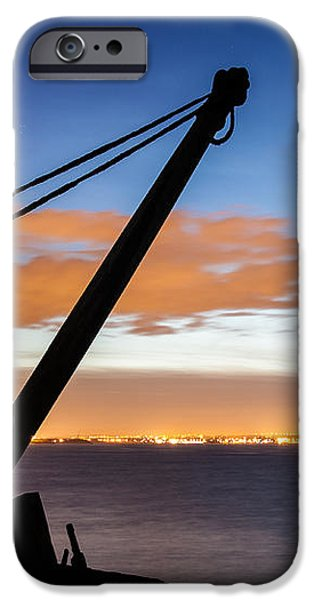 Silhouette of Davit iPhone Case by Semmick Photo