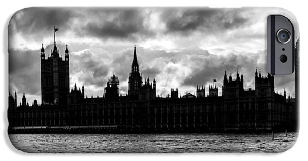 White River Scene Photographs iPhone Cases - Silhouette of  Palace of Westminster and the Big Ben iPhone Case by Semmick Photo