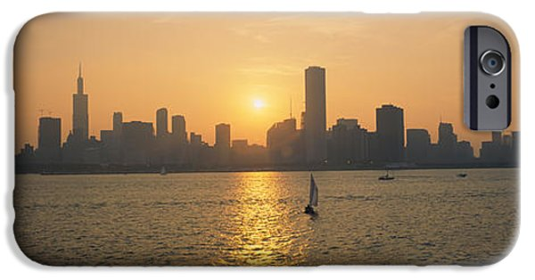 Built Structure iPhone Cases - Silhouette Of Skyscrapers iPhone Case by Panoramic Images