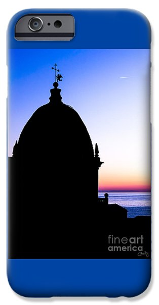 Charly iPhone Cases - Silhouette of Vernazza Duomo Dome iPhone Case by Prints of Italy