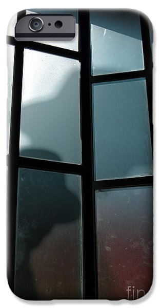 Detectives iPhone Cases - Silhouette on Window iPhone Case by Carlos Caetano