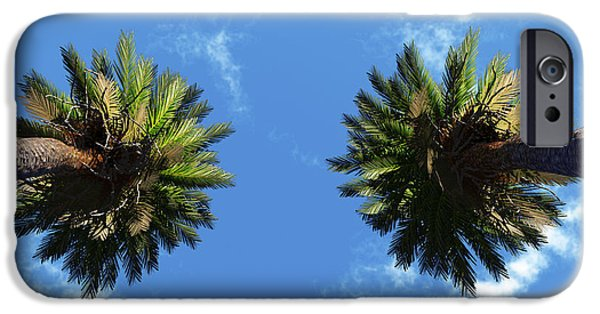 Exoticism iPhone Cases - Silhouette Palms iPhone Case by Aleksey Tugolukov