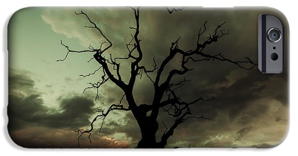 Chris iPhone Cases - Silhouetted iPhone Case by Chris Fletcher