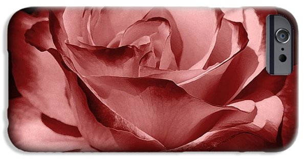 Red Wine iPhone Cases - Silk  iPhone Case by Athala Carole Bruckner