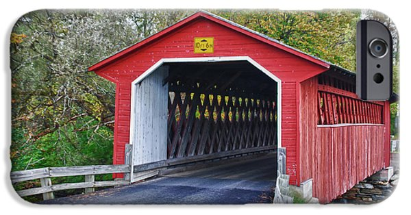 Recently Sold -  - Covered Bridge iPhone Cases - Silk Bridge 8258 iPhone Case by Guy Whiteley