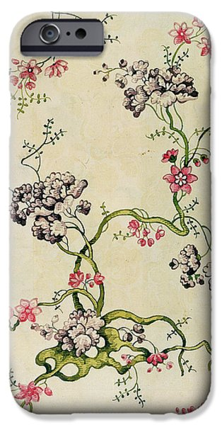 Design Tapestries - Textiles iPhone Cases - Silk design iPhone Case by Anna Maria Garthwaite
