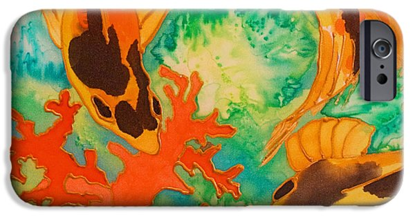 Ocean Reliefs iPhone Cases - Silk Koi iPhone Case by Joanne Smoley