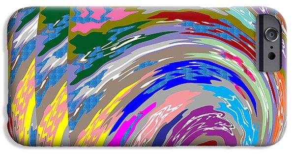 Diy iPhone Cases - SILKEN Spiral Waves Pattern DECORATIVE Art iPhone Case by Navin Joshi