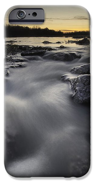 Silky river iPhone Case by Davorin Mance