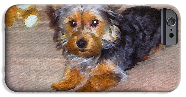 Yorkshire Terrier Watercolor iPhone Cases - Silky Terrier - Watercolor iPhone Case by Scott Hervieux