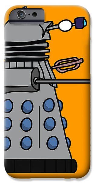 Dr. Who iPhone Cases - Silly Robot iPhone Case by Jera Sky