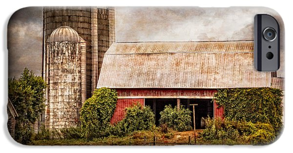 Tennessee Barn iPhone Cases - Silos and Barns iPhone Case by Debra and Dave Vanderlaan