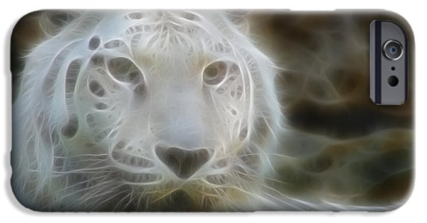 Nature Abstracts iPhone Cases - Silver-7969-fractal iPhone Case by Gary Gingrich Galleries