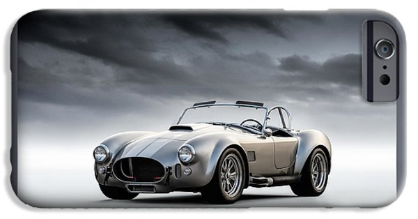 Racing iPhone Cases - Silver AC Cobra iPhone Case by Douglas Pittman