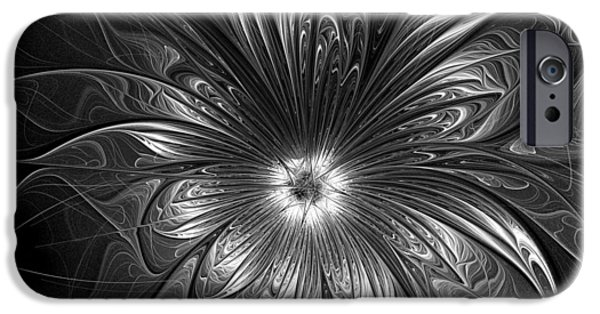 Floral Digital Art Digital Art Digital Art iPhone Cases - Silver iPhone Case by Amanda Moore