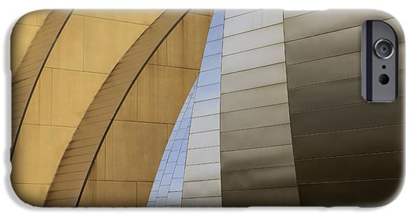 Symphony Hall iPhone Cases - Silver and Gold iPhone Case by Dennis Hedberg