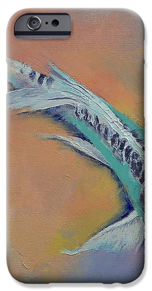 Silver and Jade iPhone Case by Michael Creese