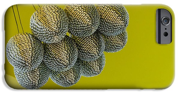 Fireworks iPhone Cases - Silver Chandelier. iPhone Case by Slavica Koceva