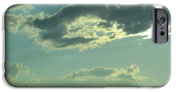 Nature Abstract iPhone Cases - Silver Clouds3 iPhone Case by Tara  Shalton