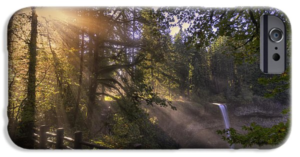 October iPhone Cases - Silver Falls Light iPhone Case by Mark Kiver