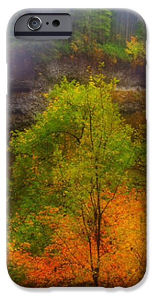 Silver Falls Pano iPhone Case by Darren  White