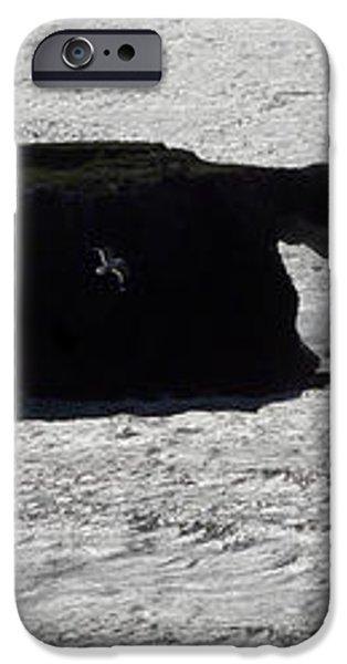 Silver Glistening Ocean Sonoma County California iPhone Case by Wernher Krutein