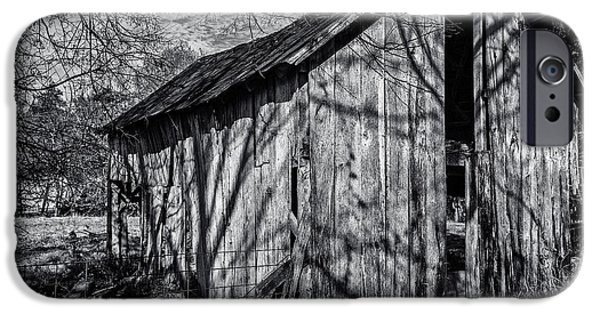 Tennessee Barn iPhone Cases - Silver Grey iPhone Case by CJ Schmit